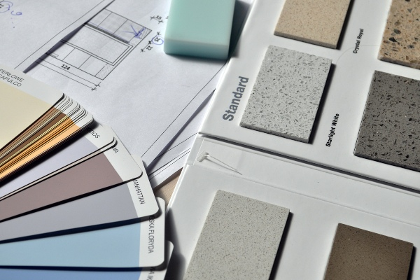 tile and paint samples