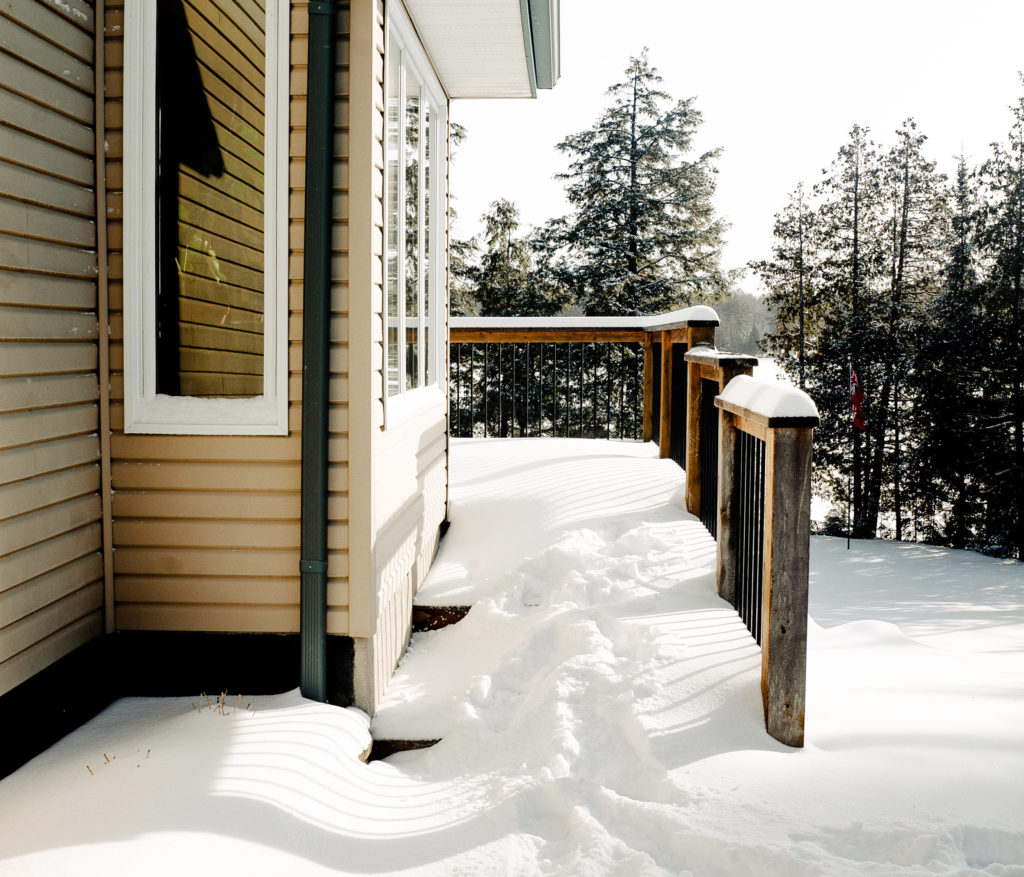 A home's snow-packed pathway can be a liability